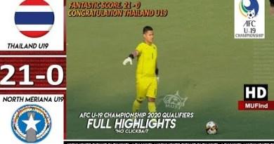 Thailand U19 vs NMI U19 21-0 Elephantine Highlights AFC U-19 Championship 2020 Qualifiers
