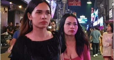 PATTAYA walking avenue after hour of darkness 2020