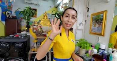 "Quicky with Transgender FEMALE BARBER ""Nin"" 💈Straight Razor Shave 🇹🇭 Pattaya Thailand"