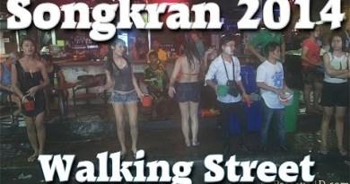 Pattaya Strolling Boulevard Nightlife celebrate Songkran