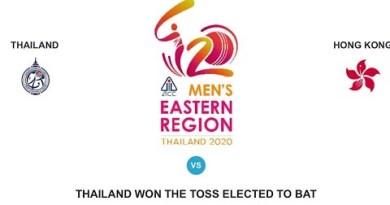 Thailand vs Hong Kong II Mens  Jap  Regional  Thailand 2020