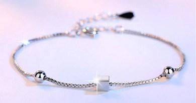 Anenjery Simple Fashion 925 Sterling Silver Bracelets Square Star Beads Box Chian Bracelets & Bangles For Women pulseira S-B92