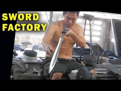 How Blacksmiths blueprint Swords & Survival Knives in Thailand