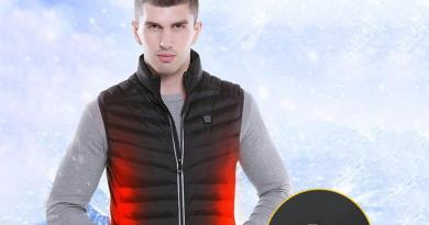 Stand-up collar cotton heating vest electric heating men and women intelligent USB safety constant temperature sleeveless jacket