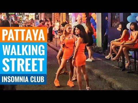 Walking Steet Pattaya 🇹🇭 Insomnia Club (Thailand Nightlife Sightseeing)