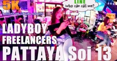 Pattaya strolling road nightlife –  Around Ladyboy Boulevard Pattaya soi 13 – 5K Extremely Video 01