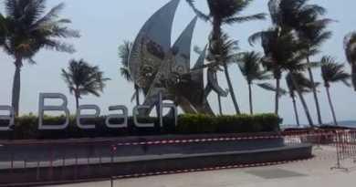 Pattaya,Thailand shutdown,Jomtien Sea bolt April 2020