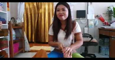 [4k] Thai Foot rub down in Pattaya, Thailand , ASMR rub down