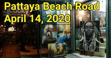 Pattaya Seaside after 7pm on April 14, 2020