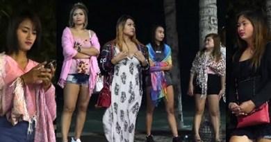 Ready For Customers | Pattaya Shoreline Boulevard | Freelance Females | 2018 | VLOG 35