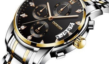 2019 Watch Men Fashion Casual Classic Chronograph Sport Quartz Clock 30M Waterproof Watches Clock Relogio Masculino Black Sale