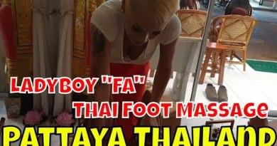 """$6 THAI FOOT MASSAGE in PATTAYA Thailand w/ Ladyboy """"Fa"""""""