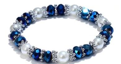 Fashion Shiny mulher Jewelry Colorful Rhinestone Faux Pearl Bangle Bracelets for Women Birthday Gift feminino pulseras