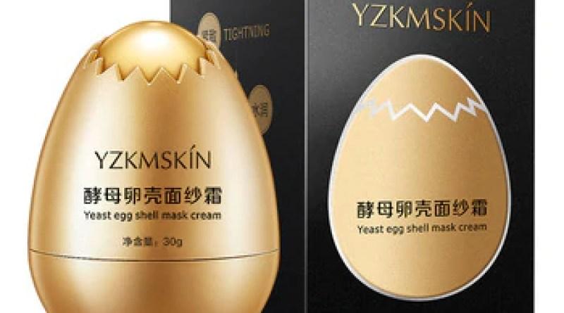 Egg mask Yeast Eggshell Mask Cream Yeast Egg Shell Hydrating Moisturizing Veil Cream Sleep Moisturizing Disposable Mask Cream