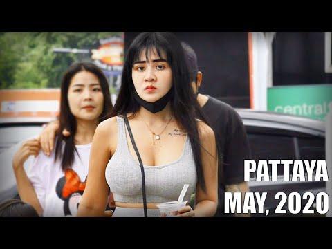 Pattaya Seashore Street Scenes. Thailand, Might well perchance, 2020