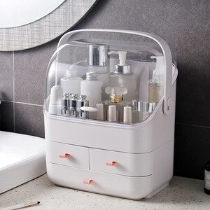 Cosmetic Storage Box Makeup Organizer Drawer Large Capacity Jewelry Nail Polish Makeup Container Portable Cosmetic Organizer Box