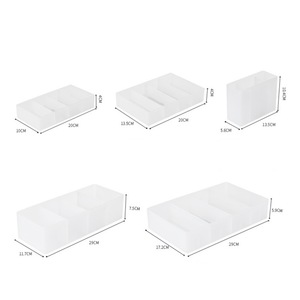 Cosmetic Storage Box With Partition Storage Box Household Simple Cosmetic Storage Box Detachable-