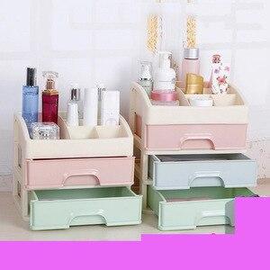 Cosmetic box storage box desktop finishing box princess home cosmetics drawer plastic small mini cute