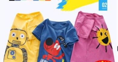 Детская футболка с короткими рукавами; Хлопковые футболки; Топы для мальчиков и девочек; Футболки; Летняя детская футболка