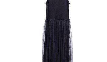 Женское платье на бретельках GALCAUR, асимметричное платье средней длины с высокой талией и сеткой, лето 2020