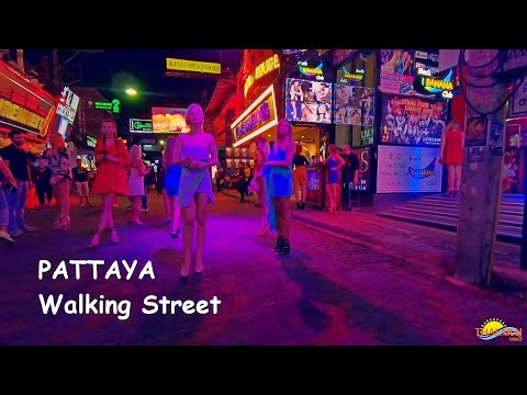 Pattaya nightlife – Walking Avenue 2020 Evening Scenes