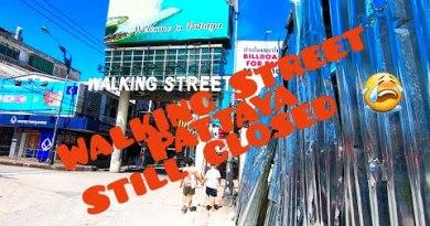 PATTAYA WALKING STREET { DAYTIME } DURING PHASE 4 22 JUNE 2020 THAILAND 😎