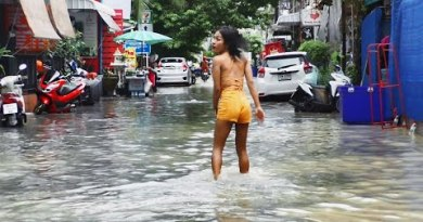 Pattaya Worst Flood in Soi Buakhao. Thailand, July, 2020