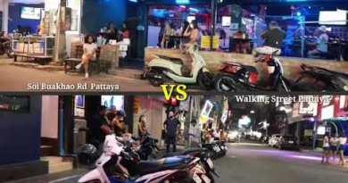 Pattaya Exchange : Walking Motorway VS Soi Buakhao Rd. July 2020.