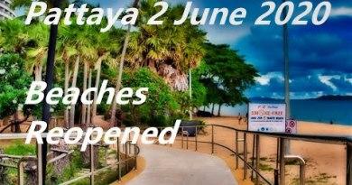 [4K] THAILAND AKTUELL  2 June 2020…Pattaya Seashores reopened .Boulevard stroll video.