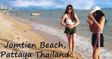 A Stroll Along Jomtien Coastline And Coastline Boulevard, Pattaya, Thailand in August 2020 (4K)
