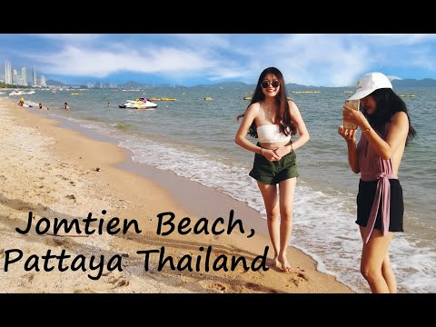 A Stroll Along Jomtien Coastline And Coastline Boulevard, Pattaya, Thailand in August 2020 (4K)