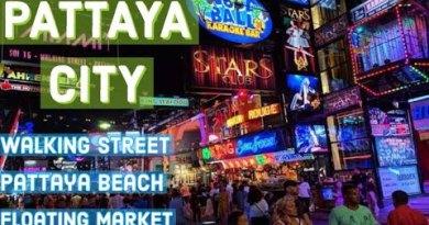 Pattaya walking boulevard | Pattaya vacationer areas | Pattaya beach | Pattaya city | Shiny Hiker