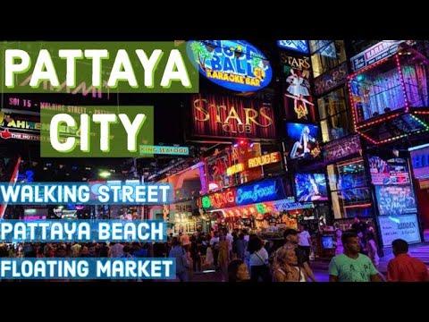 Pattaya walking boulevard   Pattaya vacationer areas   Pattaya beach   Pattaya city   Shiny Hiker