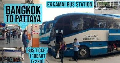 Bangkok to Pattaya by bus   Walking Road Previous to 9pm   Pattaya nightlife   Pattaya Girls  