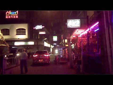 Pattaya Thailandia Soi honey di sera