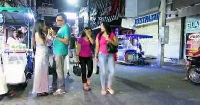 Pattaya Walking Aspect street after Heart of the evening