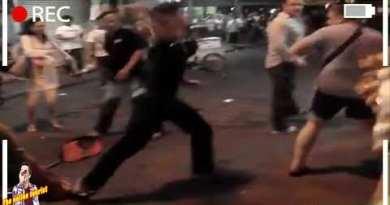 Battling Birth air Insomnia Strolling Avenue Pattaya   Battle Thai VS Russian Vacationer