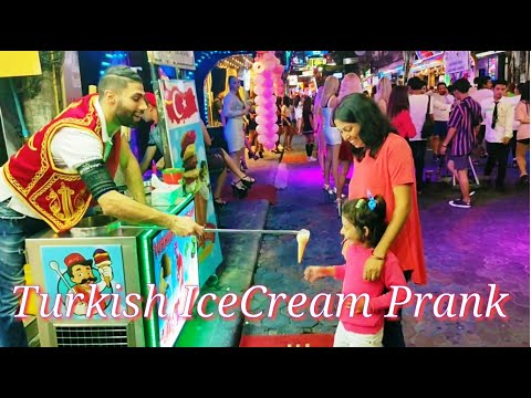 Turkish Ice Cream Prank | Strolling Aspect road | Pattaya