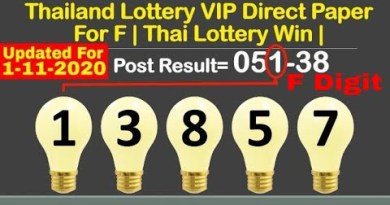 1-11-2020 Thailand Lottery VIP Insist Paper For F | Thai Lottery Snatch |