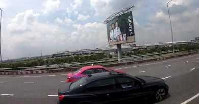Pattaya – Boulevard to Pattaya by bus – Thailand