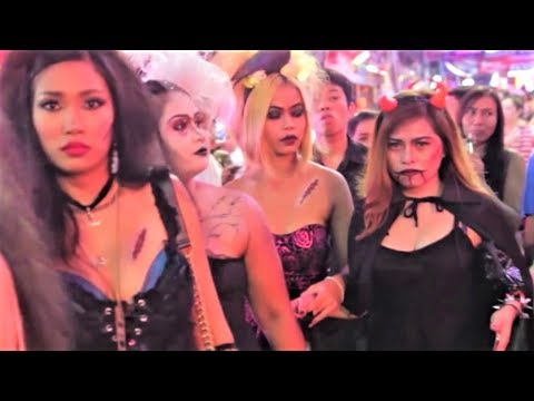 HALLOWEEN PARTY PATTAYA THAILAND SCARY AND SEXY THAI GIRLS  IC#19