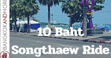 Pattaya Sea trot Side dual carriageway Daytime – Songthaew Poke