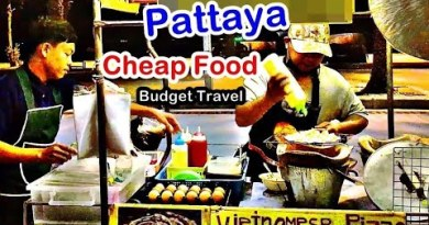 Low-cost meals Pattaya | Vietnamese Pizza | Food truck on Pattaya Beach Road | Budget Mosey in Thailand