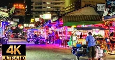 Pattaya 4K Crawl 2020 Dec. BarBeer Avenue Corpulent Route NightScene.