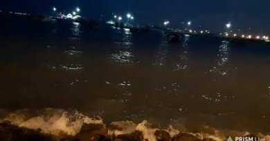 Pattaya Seashore Night Time After Rain Quit