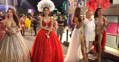 LadyBoy After Alcazar Cabaret Demonstrate Pattaya Thailand   Safe a Image 100 Baht