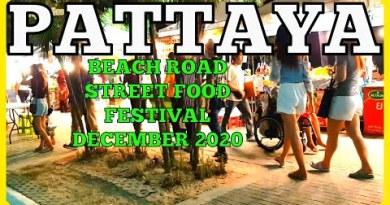 Pattaya Seaside Avenue Food at Tune Festival Evening December 2020
