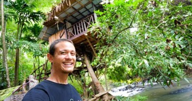 Nature Paradise – $24.63 TREE HOUSE Over The River Tour!!   Phatthalung, Thailand! 🇹🇭