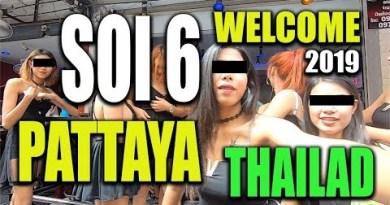 Soi 6 Pattaya Thailand Bar lady boulevard with Thai lady bars afternoon 13. September