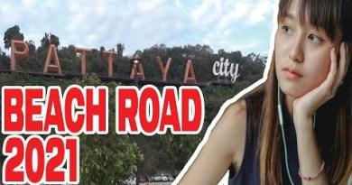 Pattaya coastline road at night 2021 Thailand